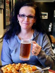 vickie,wife..lunch (S and V photos) Tags: vickie wife beer hand 40 pike morristown ohio