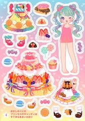 Princess Kirara: Sticker/Paper Doll Book Pg. 4 (Daiso - Japan) Princess Candy of Sweets Land (JillyBeanSSF) Tags: paperdoll