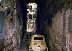 Naples, Italy, 1980s slide (lumierefl) Tags: naples napoli campania italy europe tunnel passage car