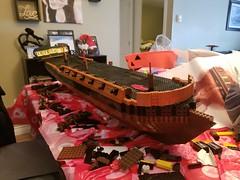 HMS Warlock (Aaron Patrick Morse) Tags: sailingship frigate lego wip 18thcentury 38gunfrigate minifigscale pirate pirates pirateship boathull hmswarlock hms