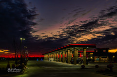 Morning Sunrise at the Gas Station (Kool Cats Photography over 13 Million Views) Tags: sunrise oklahoma outdoor landscape clouds sunsrays gasstation outdoors lighting morning