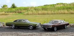 1972 Dodge Polara & 1973 Dodge Coronet Sedans (JCarnutz) Tags: 143scale diecast resin neoscalemodels matrixmodels 1972 1973 dodge polara coronet