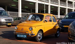 Fiat 500L 1972 (XBXG) Tags: ae0829 fiat 500l 1972 fiat500l 500 fiat500 lusso giallo jaune yellow interclassics 2020 forum expo exhibition mecc maastricht limburg nederland holland netherlands paysbas vintage old classic italian car auto automobile voiture ancienne italienne italie italia italy vehicle outdoor