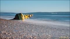 the lost buoy (SCRIBE photography) Tags: beach seascape sea water pebbles longexposure buoy sky ocean coast