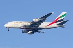 A6-EUB - 2015 build Airbus A380-861, on approach to Runway 23R at a misty Manchester (egcc) Tags: 213 a380 a380861 a388 a6eub airbus egcc ek emirates lightroom man manchester ringway superjumbo uae