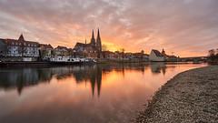 Sunset Regensburg (tobiasschmidt72) Tags: regensburg city cityscape stadt städte unesco worldheritage weltkulturerbe donau steinernebrücke dom danube cathedral church