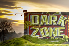 Dark Zone (jeanmichelchuiche) Tags: vias hérault france noir soleil black zone tag dancing dark sombre
