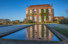 Ice and colour (fotosforfun2) Tags: hinton ampner hintonampner hampshire frost winter reflection water house home building architecture brick elevations red brown green blue sky nationaltrust england britain uk pond design garden