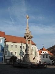 2018-11-05_15-49-43_Nikon_JH (Juhele_CZ) Tags: mikulov moravia czechrepublic houses architecture historical hill nature monument statue square town