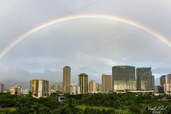 Honolulu rainbow (Frank G Cornish) Tags: rainbow honoluluhi downtown city urban tropical