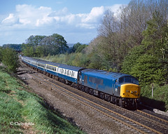 45120 At Plawsworth (chrissyMD655) Tags: class 45 45120 peak plawsworth ecml br blue livery