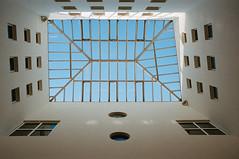19/366 Skewed (Brad Visser) Tags: film filmisalive porta400 kodak konicaautoreflext3 colourphotography architecture vienna notquite 365photographyproject 365photoproject 35mm atrium