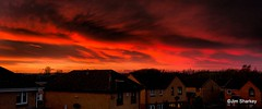 Photo of Sunset tonight over Johnstone Scotland