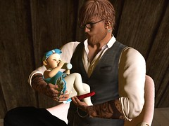 Lunch Time (lukeidlemind) Tags: firestorm secondlife baby zooby daddy daughter ginger hungry lunch snack love cuddles family newborn kidsecondliferegionfieldsavenuesecondlifeparcelidlemindstudiossecondlifex96secondlifey247secondlifez784
