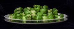double sprouts (Mark Rigler -) Tags: sprouts brussel plate vegtable