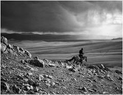 urga (ericguéret) Tags: mongolie mongolia steppe 1999 yashicat5 ball nomade 35mm springtime printemps nb bw zeiss travel work landscape paysage cavalier horse cheval orage pluie rain thunderstorm uurga perchelasso horserider mongolianpeople lepeuplemongol voyage
