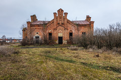 Abandoned Church. (Oleg.A) Tags: ancient autumn arch building cathedral church old brick outdoor evening dome cloudy landscape countryside nature abandoned exterior tree ruined russia house grass architecture orthodox penzaregion village historic bell catedral arc fall landscapes vladykinsky penzaoblast