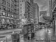 Slow News Day (Michael F. Nyiri) Tags: newsstand dtla downtownlosangeles california southerncalifornia monochrome blackandwhite
