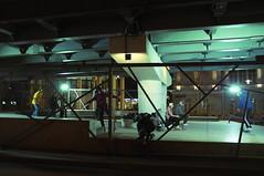 DSCF5503 (Mike Pechyonkin) Tags: 2020 moscow москва bridge мост house дом skate park скейт парк skateboard скейтборд skateboarder скейтбордист girl woman девушка man мужчина streetlight фонарь