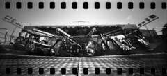 2643 No Punters. (Monobod 1) Tags: ondu 135 panoramic ilford fp4 kodak hc110 pinhole lensless epsonv800