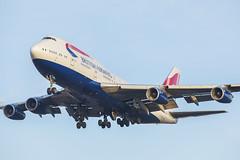 G-BYGE - LHR - (18-01-20) (Fred Ellis -) Tags: lhr egll boeing 747400 gbyge british airways landing 27r