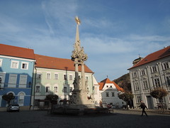 2018-11-05_15-49-36_Nikon_JH (Juhele_CZ) Tags: mikulov moravia czechrepublic houses architecture historical hill nature monument statue square town