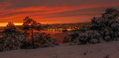 View from Odderøya towards Vågsbygd (gormjarl) Tags: kristiansand wather lake fjord sunset beach water sky natur night art light sun cloud landscape street river otra norway city