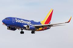 """Southwest Airlines Boeing 737-700 N746SW KLAS 15NOV19 (FelipeGR90) Tags: 737ng boeing737 lasvegas mccarraninternational sincity 737 737700 73g b737 b73g boeing klas las n746sw swa southwest wn """"southwestairlines"""""""