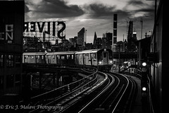 7 Train, Queensboro Plaza status (ericjmalave) Tags: nyc new york city queens long island silvercup sunset