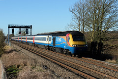 43076 43081 Rushton (CD Sansome) Tags: rushton mml midland main line train trains high speed hst stagecoach abellio emr east midlands railway 43 43076 43081