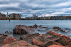 Warm winter scene... (BigWhitePelican) Tags: helsinki finland lauttasaari shore longexposure morning sunrise canoneos70d adobelightroom6 niktools 2020 january