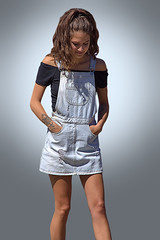 Contemplative (Scott 97006) Tags: girl female lady cute thoughtful thinking posture pockets