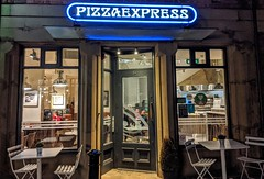 Pizza Express, Preston (Tony Worrall) Tags: preston lancs lancashire city welovethenorth nw northwest north update place location uk england visit area attraction open stream tour country item greatbritain britain english british gb capture buy stock sell sale outside outdoors caught photo shoot shot picture captured ilobsterit instragram photosofpreston foodies eat night lights doorway cafe restaurant pizza frontage