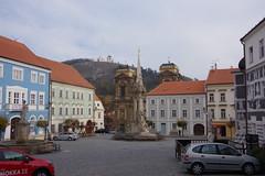 2018-11-07_14-25-50_Pentax_JH (Juhele_CZ) Tags: mikulov moravia czechrepublic houses architecture historical hill nature monument statue square town