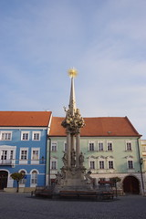 2018-11-06_09-20-22_Pentax_JH (Juhele_CZ) Tags: mikulov moravia czechrepublic houses architecture historical hill nature monument statue square town