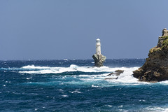 Tourlitis Lighthouse (gtsiat) Tags: greece hellas lighthouse sea waves andros wind rocks summer blue sky island nikon d7100