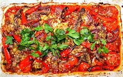 Mediterranean Tomato Bake with Anchovy and Aubergine (Tony Worrall) Tags: photos photograff things uk england food foodie grub eat eaten taste tasty cook cooked iatethis foodporn foodpictures picturesoffood dish dishes menu plate plated made ingrediants nice flavour foodophile x yummy make tasted meal nutritional freshtaste foodstuff cuisine nourishment nutriments provisions ration refreshment store sustenance fare foodstuffs meals snacks bites chow cookery diet eatable fodder ilobsterit instagram forsale sell buy cost stock flan tomato bake pastry mediterranean anchovy aubergine olympus