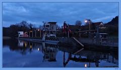 Rheinkraftwerk (Fred from Switzerland) Tags: rheinkraftwerk bluehour blauestunde em5