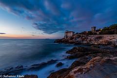 sunset on the sea (Roman_77) Tags: castelloboccale sunset sea landscapesea landscape paesaggio paesaggiomarino sky tokina beautiful light nikon nikond750 nikonitalia nikonclub d750nikon iamnikon clubnikon roman77