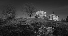 Isolated chapel (@Mlk_Dahoui) Tags: chapel church religion nikond750 blackandwhite bw trees nature picture photography new isolated winter landscape sky day old