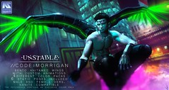 unstable. //CODE: MORRIGAN (unstable.) Tags: unstable morrigan bento animated wings rigged new mainframe event sl secondlifesyndicate second life cyber sci fi futuristic