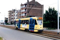 STIB 7028-T82-23-06-1995--3685 (phi5104) Tags: trams stib mivb belgië belgique bruxelles brussel