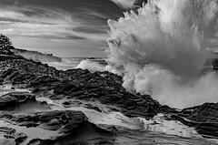 Chistmas 2019 (Ranbo (Randy Baumhover)) Tags: oregon oregoncoast pacificocean shoreacres charleston waves water breakers blackandwhite blackwhite