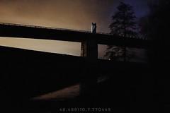Somewhere on Earth (r0llsky) Tags: night nightphotographie nightcolors nightphotographyshots highiso grain graindenuit brücke pont rhin rhine