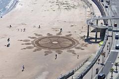 "sand painting ""Loving Torbay"" (ΞLLΞ∩ Grant) Tags: torbay torquay engl riviera gb great britain england south west devon sand painting guy beach artist"