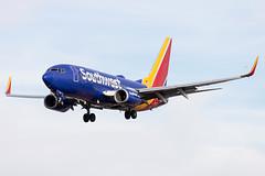 """Southwest Airlines Boeing 737-700 N7727A KLAS 15NOV19 (FelipeGR90) Tags: 737ng boeing737 lasvegas mccarraninternational sincity 737 737700 73g b737 b73g boeing klas las n7727a swa southwest wn """"southwestairlines"""""""