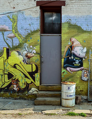 Street Art (J Wells S) Tags: streetart wallart graffiti urban urbandecay door window drum northside cincinnati ohio mural