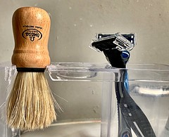 A Step Back in Time (Haytham M.) Tags: classics italy classical classic comfort texture face shaving brush lathe foam
