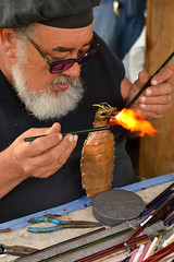 Some help from a fire breathing dragon (radargeek) Tags: 2019 april norman normanmedievalfaire2019 medievalfair oklahoma glassworks glassmaking fire dragon creationsinglass