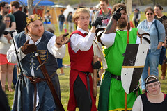 Keep your eye on them! (radargeek) Tags: 2019 april norman normanmedievalfaire2019 medievalfair oklahoma chessboard aoa arthurianorderofavalon costume